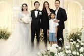 Hà Hồ cùng con trai và Kim Lý dự đám cưới Dương Khắc Linh