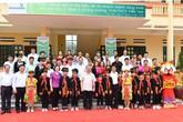 Lễ khánh thành công trình lớp học Trường TH&THCS Viễn Sơn (Văn Yên,Yên Bái) do Vietcombank tài trợ 3 tỷ đồng kinh phí xây dựng