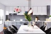 Tủ bếp inox cánh kính Vinakit – Lựa chọn mới cho không gian bếp của gia đình Việt