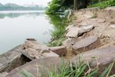 Bờ hồ Hoàn Kiếm bị sạt lở nghiêm trọng khiến nhiều người lo lắng