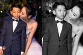 Cô dâu Đàm Thu Trang âu yếm Subeo tại lễ cưới với Cường đô la