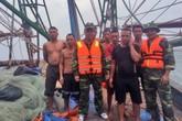Gặp nạn trên biển, 7 ngư dân được cứu sống