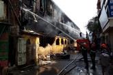 Sau hỏa hoạn tại Công ty Rạng Đông, người dân gửi lời cảm ơn các chiến sỹ chữa cháy