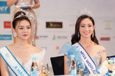 Hoa hậu Lương Thùy Linh và các á hậu rạng rỡ sau đêm đăng quang