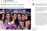 Hương Giang phản ứng gắt khi bị chuyên trang sắc đẹp Missosology che mất nửa mặt trong dàn Hoa hậu