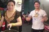 Kỳ lạ cặp vợ chồng bán hàng vỉa hè đeo cả cân vàng trên người