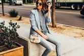 Phối áo blazer cùng quần jeans