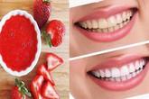 Mẹo loại bỏ các mảng bám trên răng giúp hàm răng trở nên trắng sáng của quả dâu tây