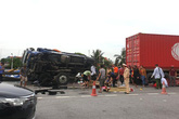 Thời điểm xảy ra tai nạn nghiêm trọng trên QL5, ô tô tải chạy với vận tốc bao nhiêu?