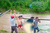 Công an viên bị nước cuốn tử vong khi giúp dân chống lũ ở Lâm Đồng