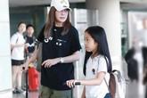 Triệu Vy dẫn con gái chín tuổi đi công tác
