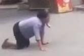 Bà lão bò giữa đường kêu tiếng chó khiến nhiều người hoang mang và sự thật đau lòng phía sau