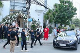 Khoảnh khắc hiếm trong đám cưới hạn chế truyền thông của Bảo Thy: Chú rể bảnh bao xuất hiện, cô dâu xinh hệt như một nàng công chúa