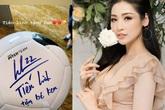 Cầu thủ Tiến Linh tặng món quà đặc biệt cho con trai Á hậu Tú Anh
