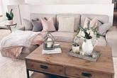 Phòng khách đẹp dịu dàng, sang trọng với gam màu be