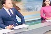 Biên tập viên Hữu Bằng lộ ảnh đi chân đất trên sóng truyền hình