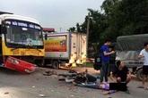 Va chạm với ô tô bus, nam thanh niên quê Hải Dương tử vong tại chỗ
