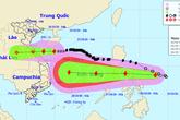 Bão số 8 suy yếu, bão Molave đang gây dông, lốc ở vùng biển từ Quảng Trị đến Quảng Ngãi