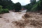Lũ trên các sông ở Quảng Ngãi đang dâng lên rất nhanh