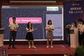 Học sinh 5 trường THPT chuyên so tài hấp dẫn tại Chung kết cuộc thi hùng biện tiếng Anh