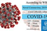 Virus corona nCoV có tên mới là Covid-19