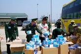 Bắt quả tang vận chuyển 30 nghìn chiếc khẩu trang trái phép sang Lào