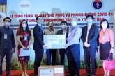 Việt Nam nhận 10 máy thở viện trợ từ Singapore phục vụ phòng, chống dịch bệnh COVID-19