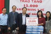 Sở Y tế Hải Phòng được doanh nghiệp tặng 15.000 khẩu trang y tế phòng chống dịch COVID-19