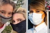 Con gái Tổng thống Trump tự may khẩu trang dùng, Đệ nhất Phu nhân Mỹ bịt kín mặt vẫn thần thái sang trọng