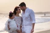 Siêu mẫu Hà Anh cùng chồng Tây và con gái cách ly tại resort