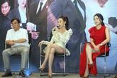 """Khán giả thót tim sợ Phương Oanh """"lộ hàng"""" vì ăn mặc hớ hênh khi ra mắt phim VTV"""