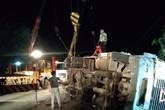 Khởi tố, bắt tạm giam tài xế xe container lật đè ô tô khách làm 3 người tử vong trong đêm