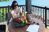Hoa hậu Đỗ Mỹ Linh cùng đại gia đình nghỉ dưỡng ở Phú Quốc