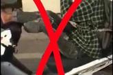 Đi xe máy bằng 2 chân, nam thanh niên tỉnh Quảng Ninh bị xử phạt