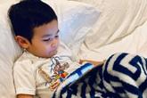 Bà xã Đan Trường tiết lộ việc con trai sốt 3 ngày liên tiếp