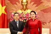 Chủ tịch Quốc hội Nguyễn Thị Kim Ngân tiếp Đại sứ Lào tại Việt Nam
