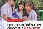 Infographic: Chi tiết lịch thi THPT Quốc gia năm 2020
