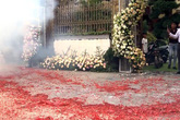 """Vụ đốt pháo """"đỏ đường"""" tại đám cưới: Một nghi can khác đang bỏ trốn"""