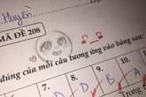 Cả gan vẽ mặt cười vào bài kiểm tra, cô giáo không quở trách lại có hành động đáp trả xứng tầm
