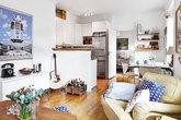 Căn hộ 46m² đẹp như mơ với nhiều không gian lưu trữ sáng tạo