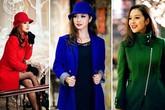 Mỹ nhân Việt đua nhau diện mốt áo măng tô sắc màu