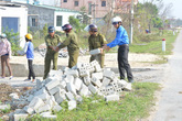 Người dân huyện Bố Trạch dọn đường đón Đại tướng về quê