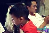 """Bố con Cường Đô la """"mê mệt"""" chơi game"""