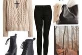 7 kiểu phối áo len vặn thừng quyến rũ