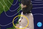 MC thời tiết xứ Hàn bị bàn tán vì lấp ló vòng một