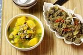 Ngon cơm với thịt bò xào sả và canh bí đỏ