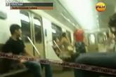 Cặp đôi ngang nhiên 'làm chuyện ấy' trên tàu điện ngầm