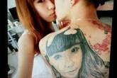 Chàng trai cuồng yêu, xăm khuôn mặt bạn gái lên lưng