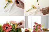 5 cách cắm hoa để bàn chị em mê tít