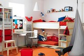 Cách bố trí giường riêng cho hai con trong cùng một phòng